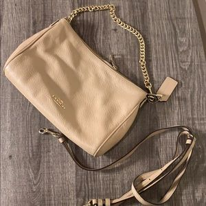 Coach Carrie cross body in pebble leather